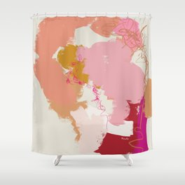 Flashes of peach and pink Shower Curtain