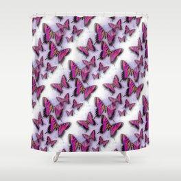 Butterflies African Kente Cloth Inspired Shower Curtain
