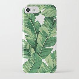 Tropical banana leaves iPhone Case