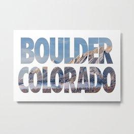 Boulder Colorado in Winter Metal Print