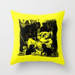 Cat Coven Throw Pillow