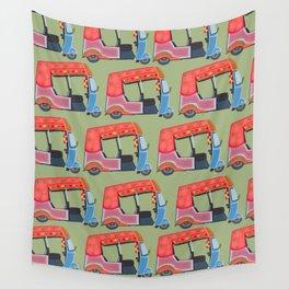 Rickshaw Fever Wall Tapestry