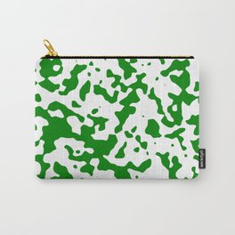 Spots - White and Green Carry-All Pouch