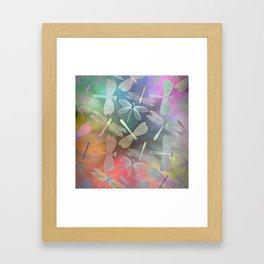 Dragonfly Dance Framed Art Print