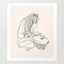 Drawings of woman by lesbian artist