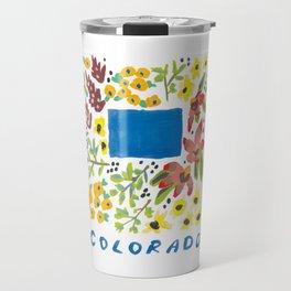 Colorado + Florals Travel Mug