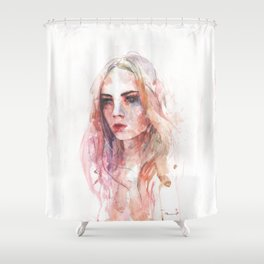 The women in red Shower Curtain