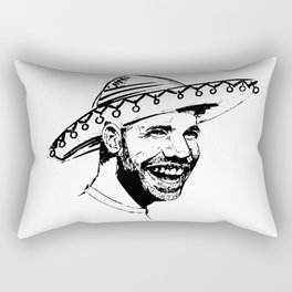Drake in Sombrero Rectangular Pillow