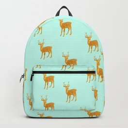 Deer. Mint and gold Backpack