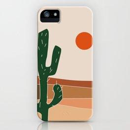 Cactus under the sun iPhone Case