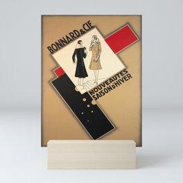 retro poster bonnard cie nouveautes saison Mini Art Print
