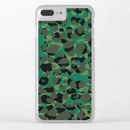Emerald Leopard Spots Clear iPhone Case