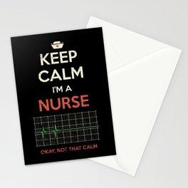 Keep Calm I'm A Nurse Stationery Cards