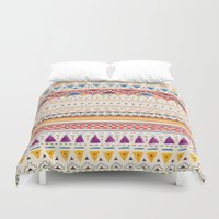 fall Duvet Covers featuring Pattern by Sandra Dieckmann