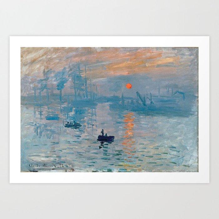Claude Monet Impression Sunrise Kunstdrucke