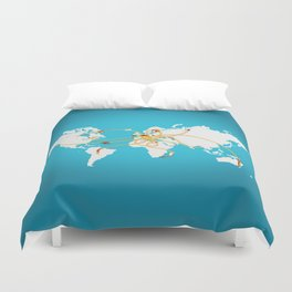 The Spaghetti Connection Duvet Cover
