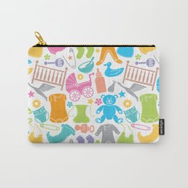 seamless pattern with baby icons Carry-All Pouch