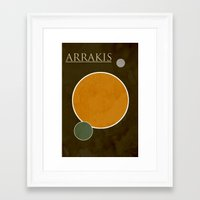 arrakis Framed Art Prints featuring Arrakis by Nicholas Hyde