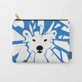 Save the Arctic Polar Bear and Melting Ice Caps Carry-All Pouch
