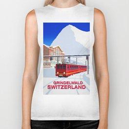Grindelwald Ski Poster Biker Tank