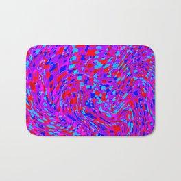 swirling red purple blue Bath Mat