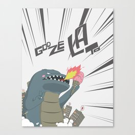Godzelato! - Series 2: GOAHHHHHH! Canvas Print