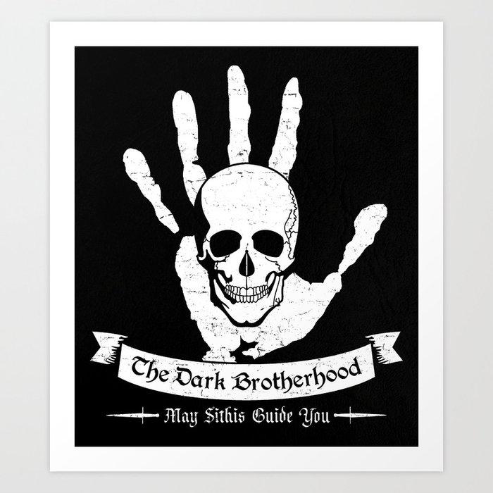 The Dark Brotherhood Art Print By Adho1982 Society6