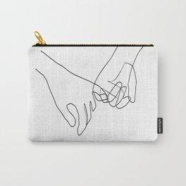 Pinky Swear Hands Line Art Carry-All Pouch