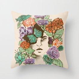 Brianna's Garden Throw Pillow