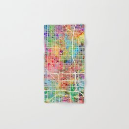 Phoenix Arizona City Map Hand & Bath Towel