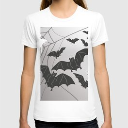 Ghosts and Bats Spiderweb Halloween T-shirt
