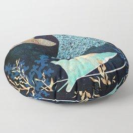 Metallic Stingray II Floor Pillow