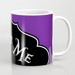 """Toss Me"" Alice in Wonderland styled Bottle Tag Design in 'Shy Violets' Coffee Mug"