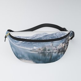 Snowy Mountain Town Fanny Pack