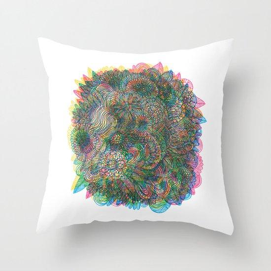 Hallucinations Throw Pillow