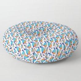 Quail Family Floor Pillow