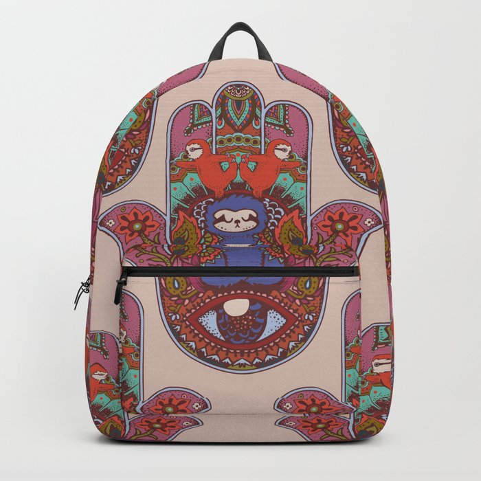 d4e4e9383 Hamsa Sloth Backpack by huebucket | Society6