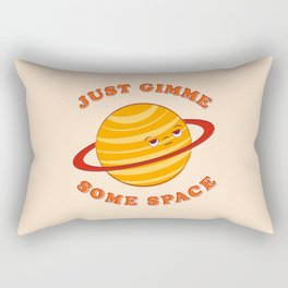 Just Gimme Some Space - Orange Rectangular Pillow
