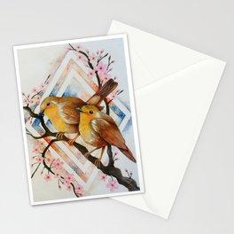 Robin Bird Couple Stationery Cards