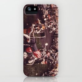 Parked Motorcycles Vintage Photograph iPhone Case