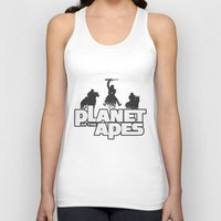 planet of the apes Tank Tops featuring Planet of the Apes by leea1968