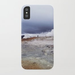 Man on the moon, Iceland iPhone Case