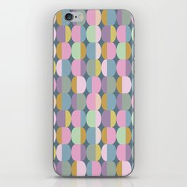Colorful Pastel Ovals Geometric Pattern iPhone Skin