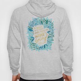 Zelda Fitzgerald – Blue on Black Hoody