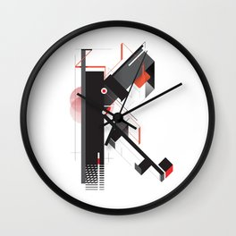 Abstract K Wall Clock