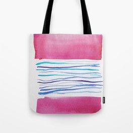 20  |181026 Lines & Color Block | Watercolor Abstract | Modern Watercolor Art Tote Bag