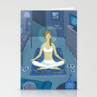 meditation Stationery Cards featuring Meditation by Anne Was Here