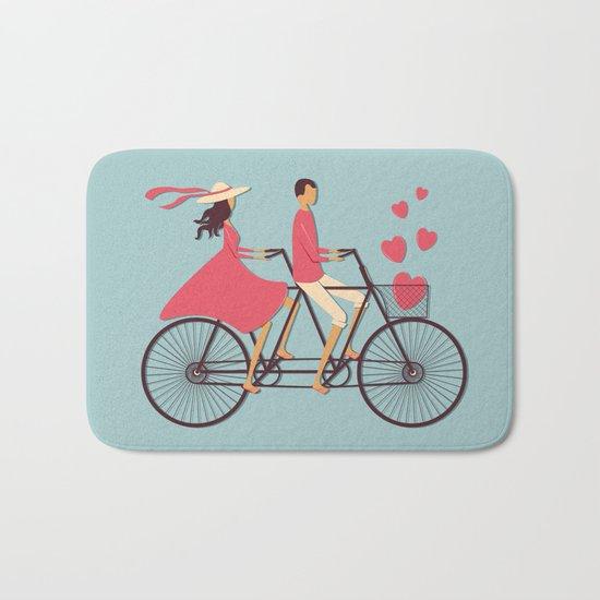 Love Couple Bath Mat