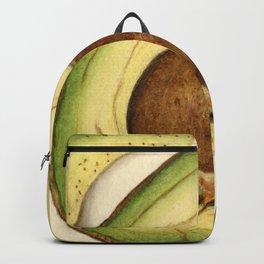 Vintage Illustration of an Avocado 2 Backpack