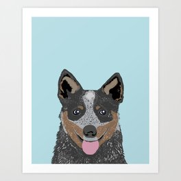 Kellan - Cattle Dog gifts for dog lovers and australian cattle dog gifts for dog person Art Print